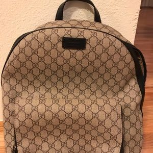 100% authentic Gucci GG Backpack